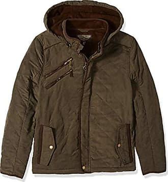 Urban Republic Mens Microfiber/Quilted Fleece Jackets, Green, XL