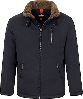 Steinbock Jacket removable faux fur collar. Steinbock blue