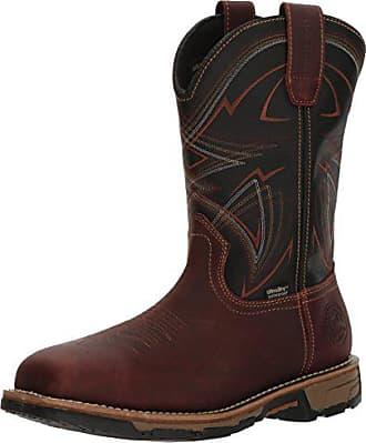 Irish Setter Work Mens Marshall Waterproof Steel Toe 11 Pull-On Boot, Dark Brown/Black, 10.5 2E US