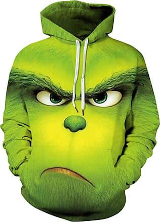 EUDOLAH Mens Hoodie Animal Pattern with 3D Print Design Halloween Costume Christmas Hoodie Long Sleeve(UK 20-22 (Tag 5XL),Angry Green 154)