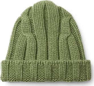CONNOLLY Ribbed Merino Wool And Cashmere-blend Beanie - Green