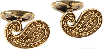 Etro Cufflinks With Logo Mens Gold