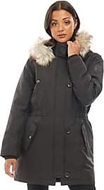Only hooded parka jacket with detachable faux fur trim