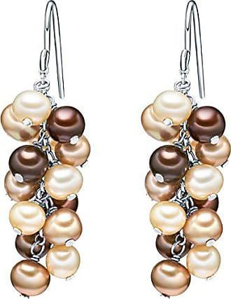 b77cb750578f Valero Pearls Pendientes embellecidos con Perlas de agua dulce - 925 Plata  esterlina - Pearl Jewellery