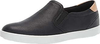 Ecco Womens Womens Leisure Slip On Loafer Flat Black/Powder 41 M EU (10-10.5 US)