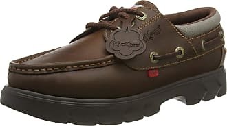 Kickers Unisex Adults Lennon Boatshoe Pull Up Boat Shoes, Brown (Brown BRW), 10.5 (45 EU)