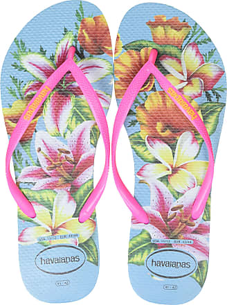 Havaianas Womens Slim Floral Flip Flops, Multicolour Blue 0031, 5 UK (39/40 EU) (37/38 BR)