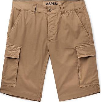 Aspesi Slim-fit Cotton Cargo Shorts - Tan
