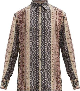 73 London Striped Silk Shirt - Mens - Multi