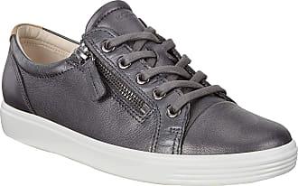 Ecco Womens Soft 7 Ladies Low-Top Sneakers, (Black Dark Shadow Metallic 51383), 3.5 UK