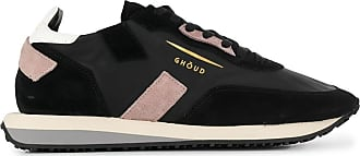 Ghoud panelled lace-up sneakers - Preto
