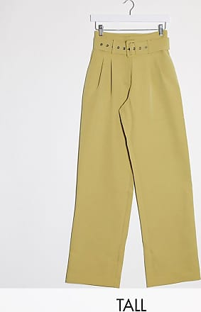 Y.A.S. Tall Dinah high waisted belted trousers-Green