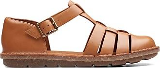 Clarks Womens Sandal Tan Leather Clarks Blake Moss Size 9.5