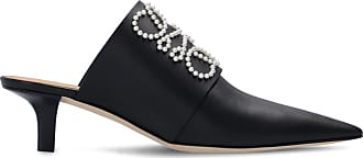 Loewe Heeled Mules With Logo Womens Black