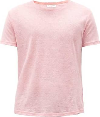 Orlebar Brown Ob-t Linen T-shirt - Mens - Pink