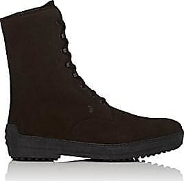 Tod's Mens Suede Lace-Up Boots - Dk. brown Size 7.5 M