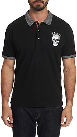 Robert Graham Mens Skull King Polo Shirt In Black Size: 2XL by Robert Graham