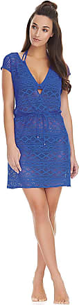 Freya Womens Sundance Cross Over Swim Dress, M, Cobalt