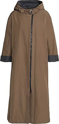 Brunello Cucinelli Brunello Cucinelli Woman Gabardine Hooded Coat Brown Size 42