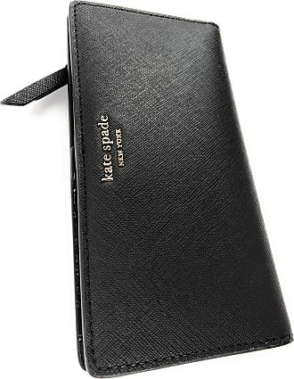 Kate Spade New York Slim Cameron Saffiano Leather Bifold Wallet (Black)