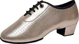 Insun Girls Lace-up Latin Salsa Tango Ballroom Dance Shoes Champagne Leather 11.5 UK Child