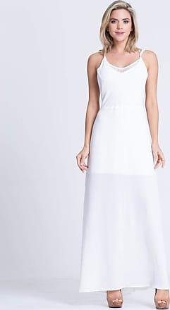Clara Arruda Vestido Clara Arruda Longo Costa Renda 50325 - P - Off White