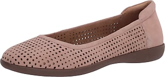 Naturalizer Womens Flexy Skimmers Ballet Flat, Nude Suede, 8.5 W (C)