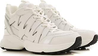 Michael Kors Sneaker für Damen, Tennisschuh, Turnschuh Günstig im Sale, Weiss, Gewebe, 2019, 36 37 38.5 39 40