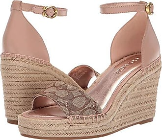 79b5b936d Coach Kit Wedge Espadrille with Signature Jacquard (Khaki/Pale Blush Mixed  Material) Womens
