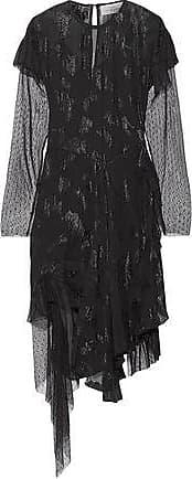 Preen Preen By Thornton Bregazzi Woman Carly Swiss-dot Tulle-paneled Fil Coupé Chiffon Dress Black Size XS