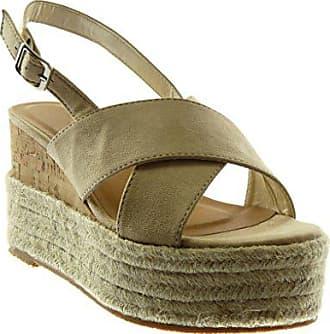 Angkorly Damen Schuhe Sandalen Mule - knöchelriemen - Plateauschuhe - Seil  - Geflochten - String Tanga 8f592f69e6