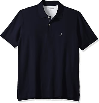 Nautica Mens Classic Fit Short Sleeve Solid Performance Deck Polo Shirt, Navy, XXL Tall