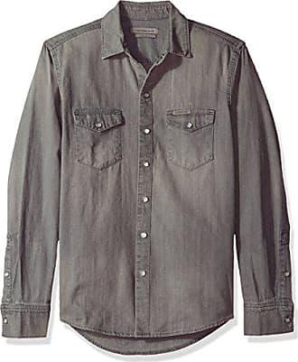 2dbf6e179e6f Calvin Klein Jeans Mens Long Sleeve Denim Shirt