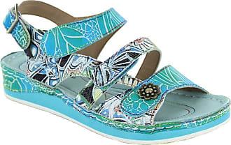7f9898ac07f8 Laura Vita Bruel 068 SL150420-6A Womens Leather Sandals - Turquoise UK 8