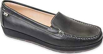 Valleverde Womens Black Leather Loafer Loafers Loafers Loafers Loafers Black Size: 4 UK