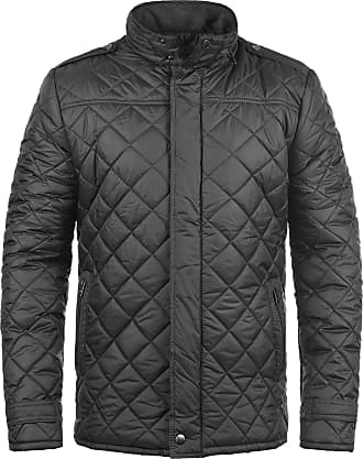 Solid Safi Mens Quilted Jacket Puffer Jacket Padded Jacket with Funnel Neck, Size:M, Colour:Dark Grey (2890)