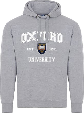 Oxford University Harvard Style Hoodie - Sports Grey - L