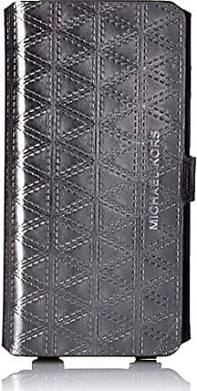 Michael Kors FOLIO PHNCSE XBODY7+ 2 Phone Wristlet, GUNMETAL, One Size