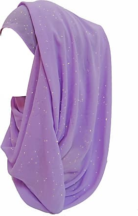 Lina & Lily Shimmer Gold Glitters Chiffon Hijab Scarf (Lavender)