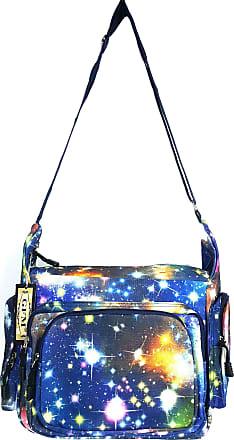 GFM Colourful Cartoon Messenger Shoulder Bag Fits A4 Folder A4 Pads for Gym, Holiday, Travel Changing Bag (6217-GLX-NL)