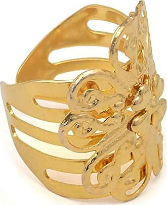 Tinna Jewelry Anel Dourado Flor Trevo