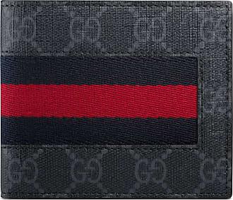 Gucci Portafoglio in tessuto GG Supreme con dettaglio Web