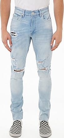 21 Men Jordan Craig Distressed Jeans at Forever 21 Light Blue