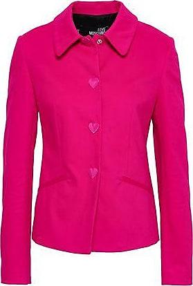 Love Moschino Love Moschino Woman Button-detailed Cotton-blend Sateen Jacket Fuchsia Size 42