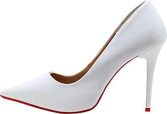 a097ae637b Royalz Scarpin Royalz Verniz Sola Vermelha Penélope Branco Branco