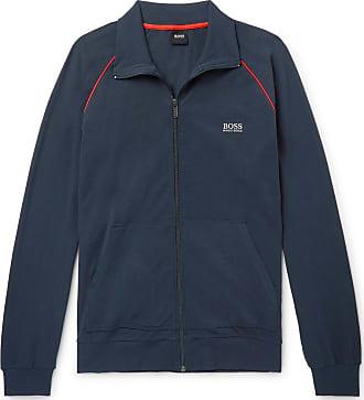 1710bb7c HUGO BOSS Cotton-blend Jersey Track Jacket - Navy