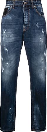 John Richmond Calça jeans com estampa - Azul