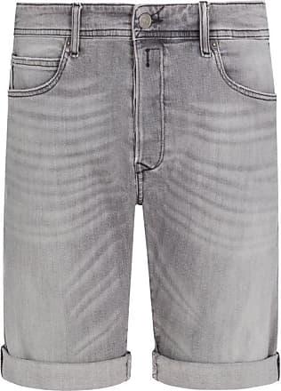 Replay Übergröße : Replay, Jeans-Shorts mit Button-Fly in Grau für Herren