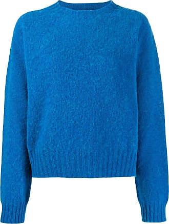 Ymc You Must Create Suéter oversized decote careca - Azul