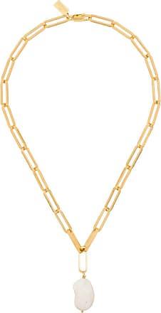 Hermina Athens Colar Zena Lost Sea prata com banho de ouro - Dourado